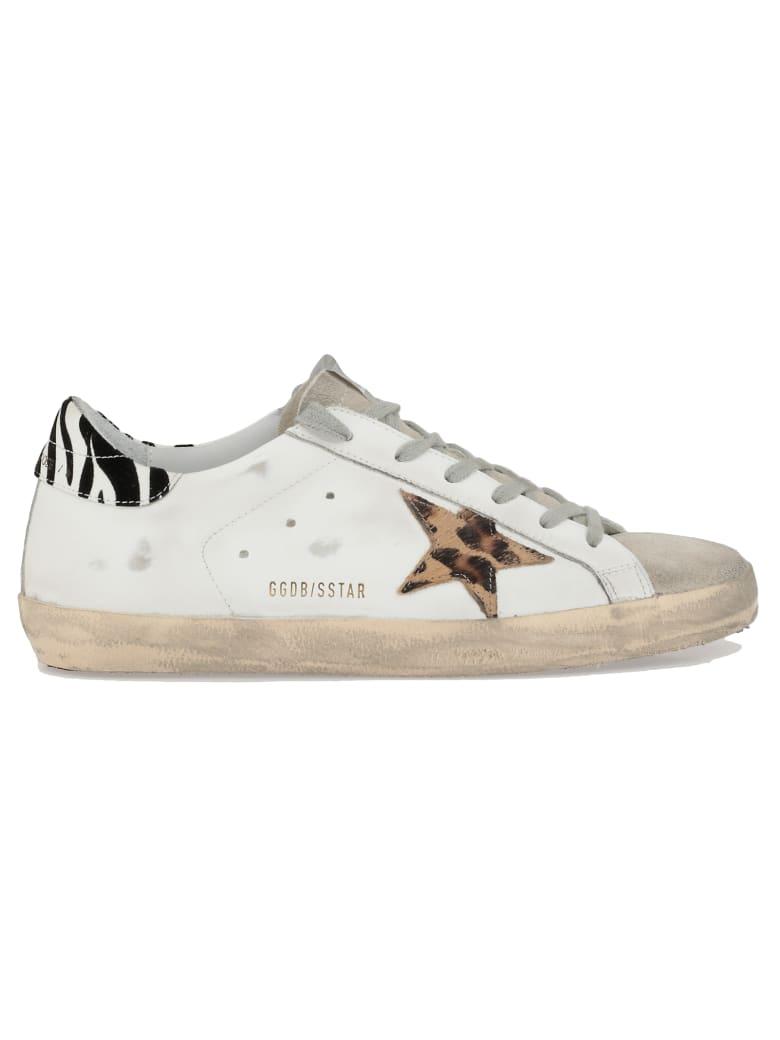 Golden Goose Superstar Sneaker - WHITE LEATHER-PONY LEO