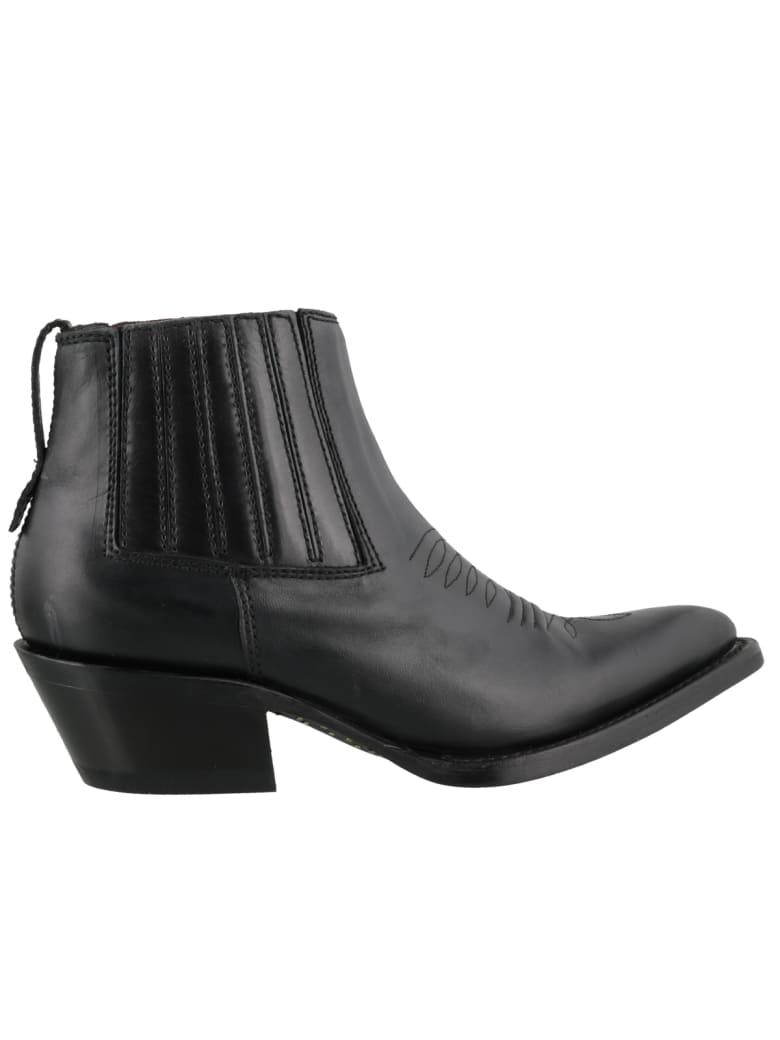 Ash Pepper Ankle Boots - Black
