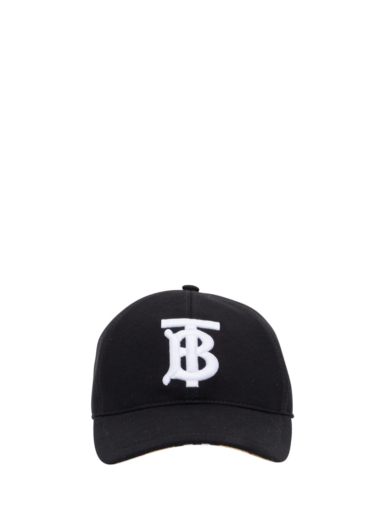 Burberry Check Baseball Cap Patch Tb - Nero