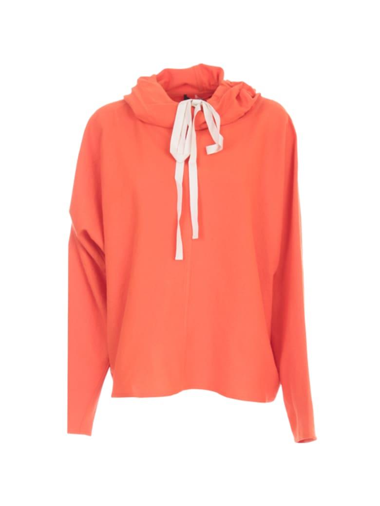 Sofie d'Hoore Hooded L/s Sweatshirt - Woven Orange Sunset