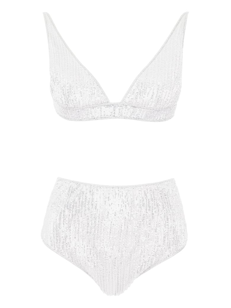 Oseree Micro Sequins Bikini - SILVER (Silver)