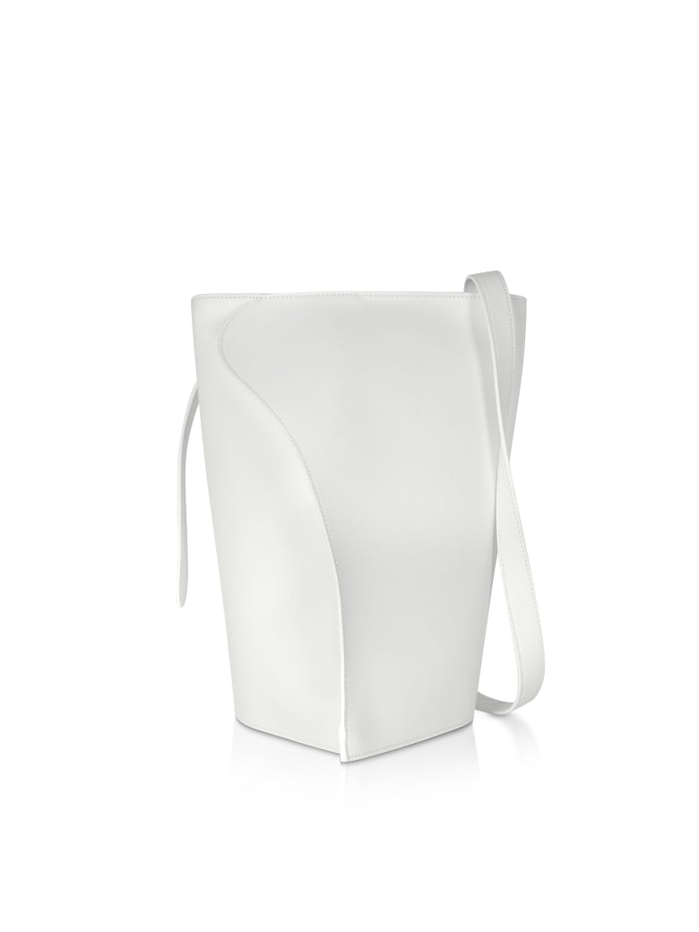 Giaquinto Layla Leather Shoulder Bag - White