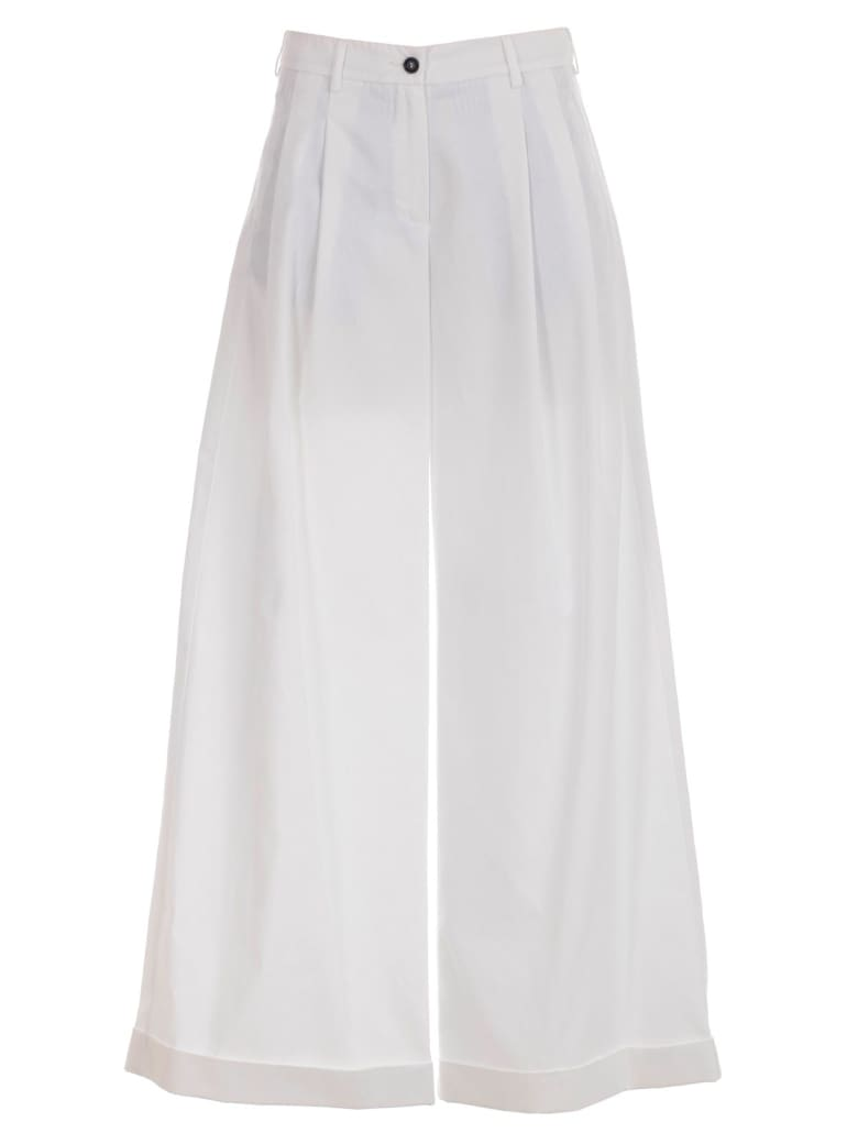 Jejia Kathryne Pants Long W/pences And Lapel - Bianco