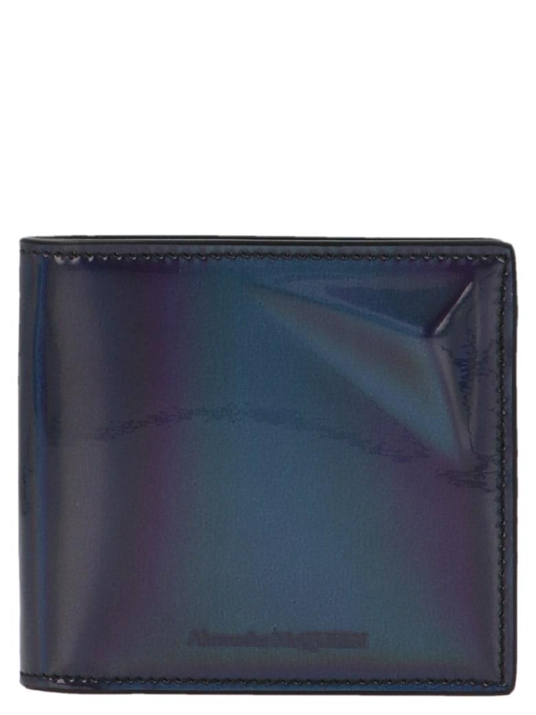 Alexander McQueen 'high Frequency' Wallet - Silver
