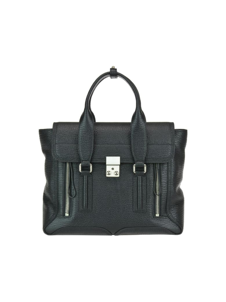 3.1 Phillip Lim Pashli Medium Satchel Bag - Black