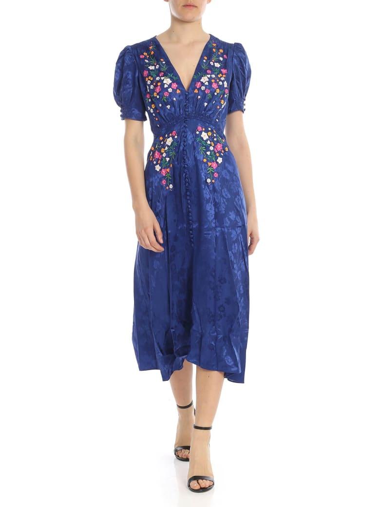 Saloni - Lea Dress - Fantasia indigo