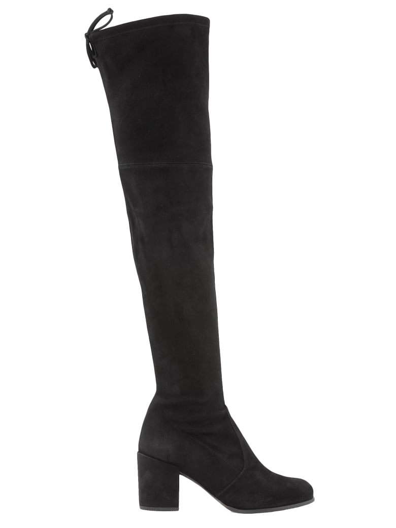 Stuart Weitzman Leather Cuissard Boot - BLACK