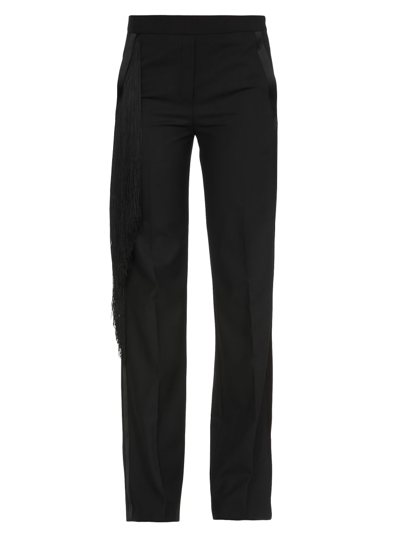 Neil Barrett Trousers  With Fringes - BLACK