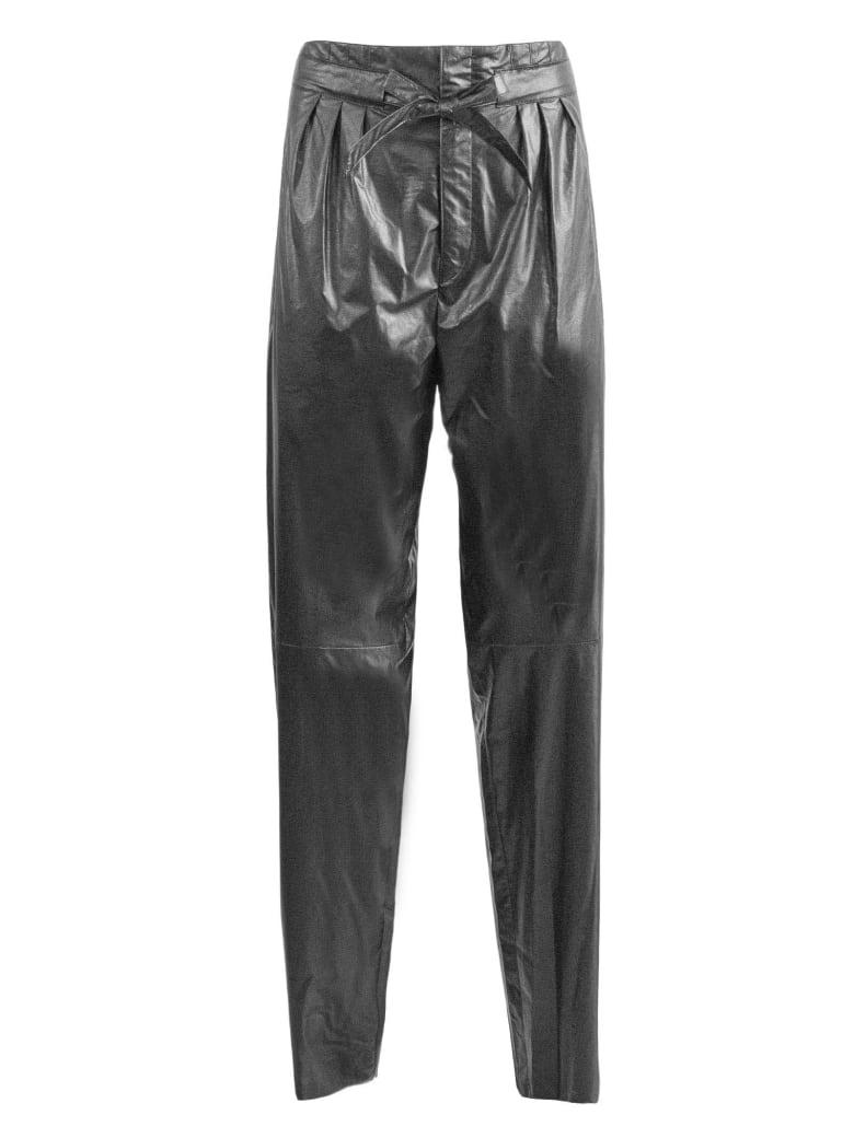 Isabel Marant Black Vegan Leather Trousers - Nero