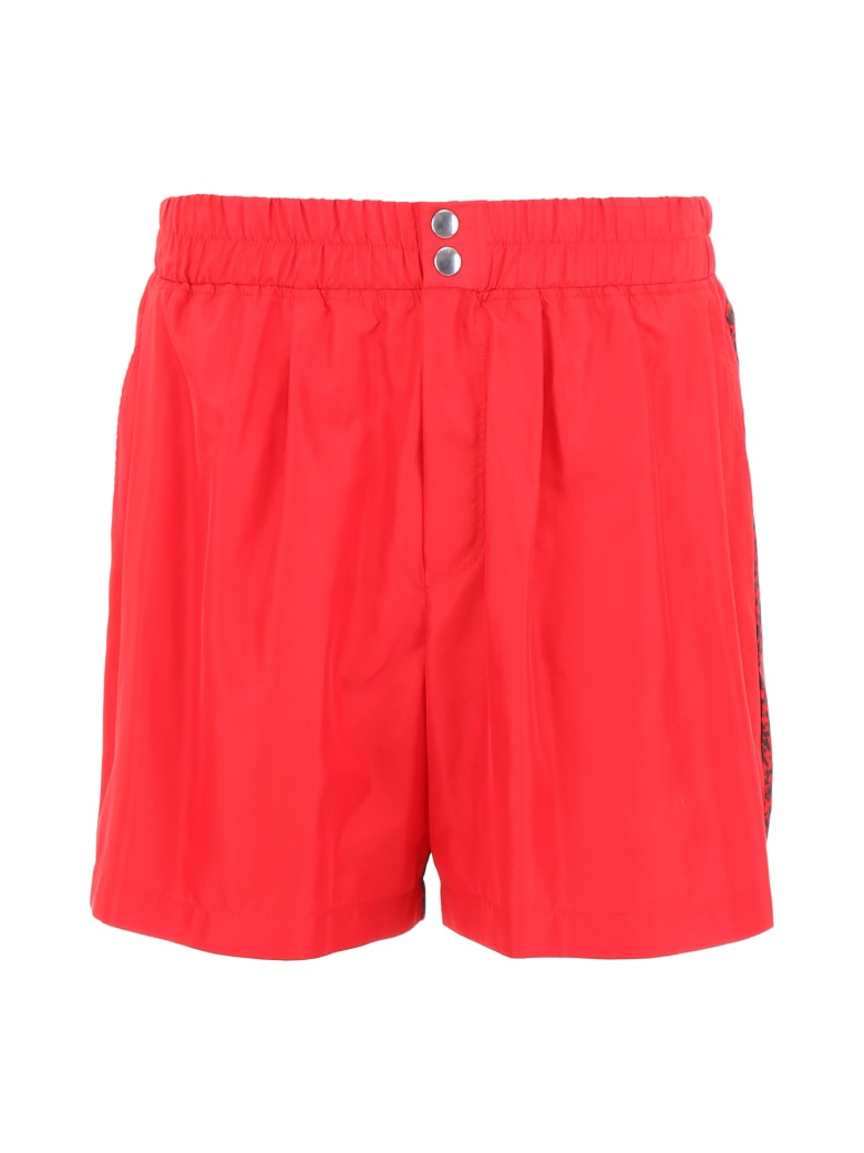 M1992 Bicolor Swim Shorts - ROSSO (Red)