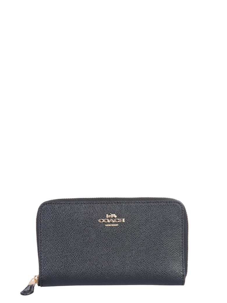 Coach Wallet With Logo - NERO