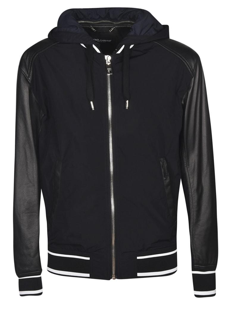 Dolce & Gabbana Drawstring Hooded Jacket - Nero