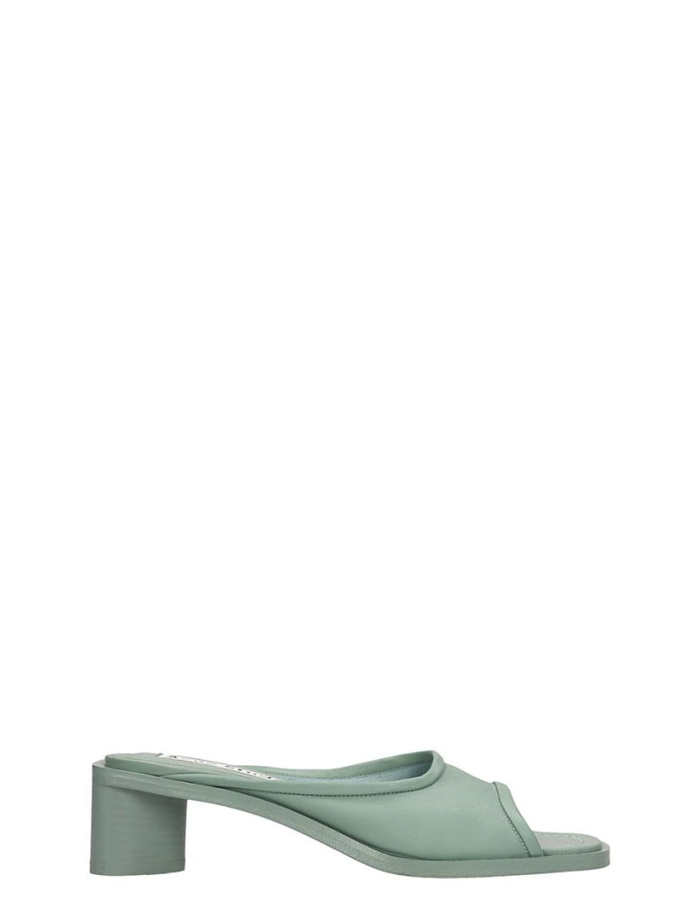 Acne Studios Bessy Sandals In Green Leather - green
