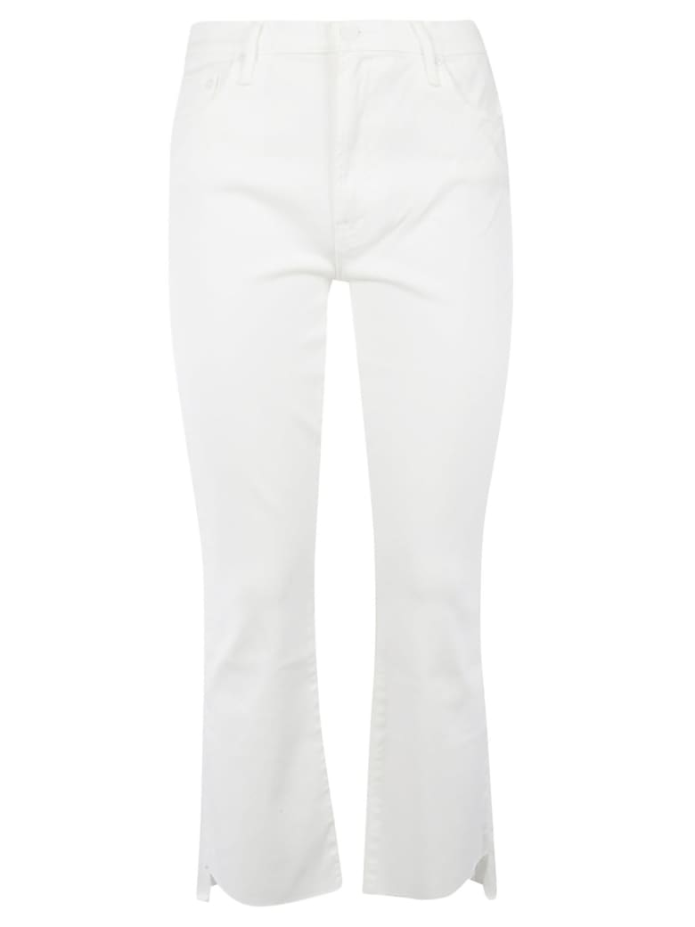 Mother Cropped Jeans - White