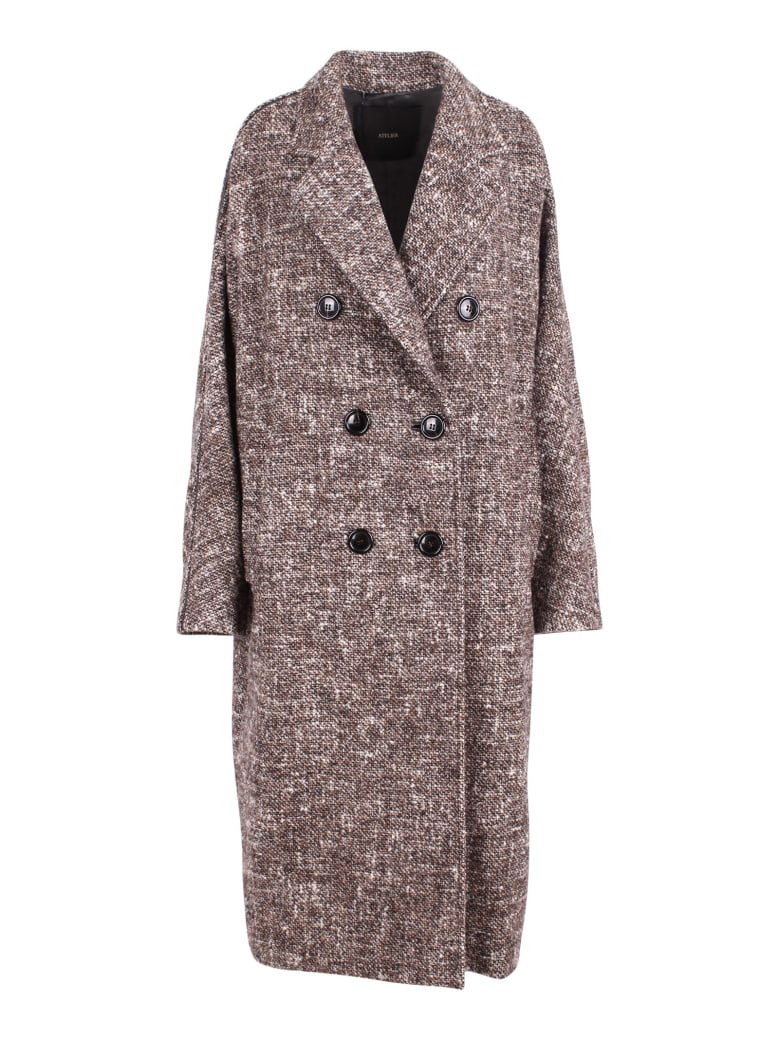 Max Mara 'teatino' Wool Coat - Brown