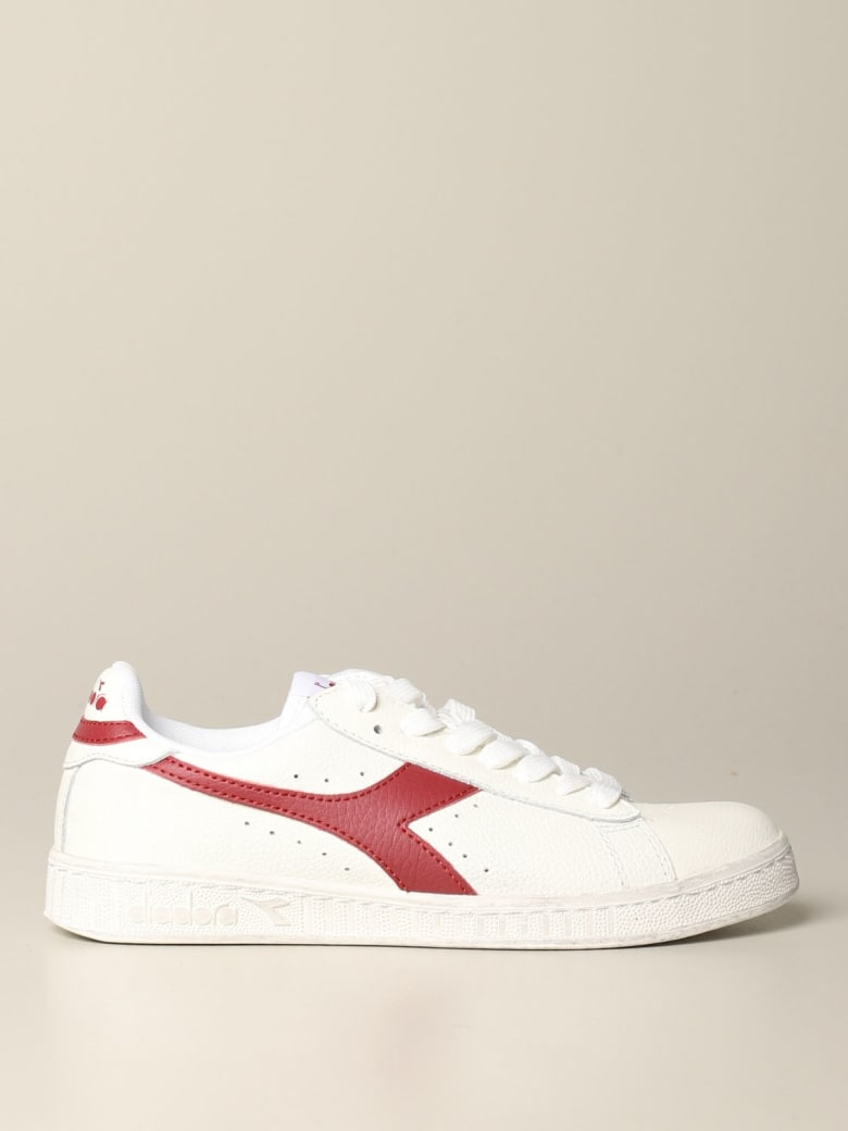 Diadora Sneakers Diadora Game L Low Waxed Sneakers In Textured Leather - red