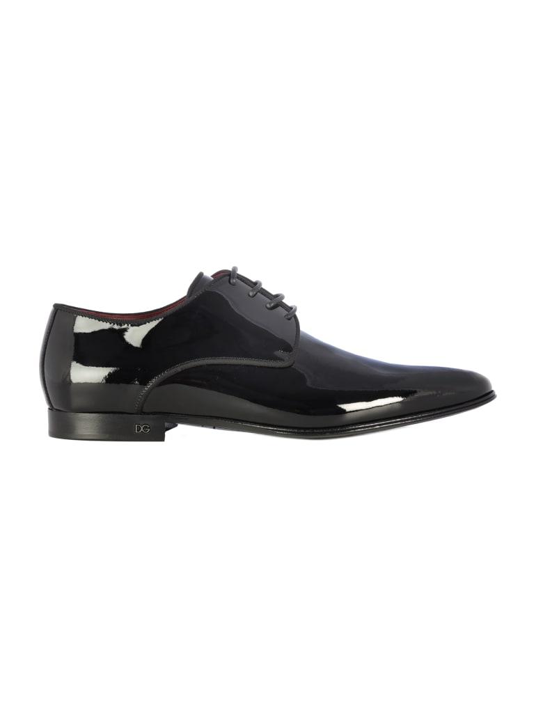 Dolce & Gabbana Derby Vinyl Shoes - Black