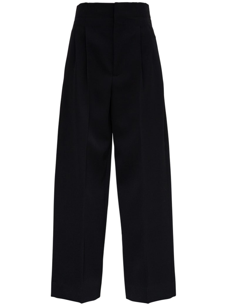 Bottega Veneta Tailored Pants In Wool Gabardine - Black