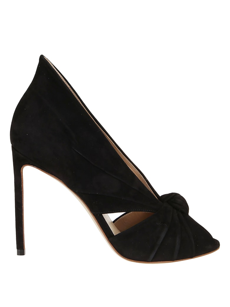 Francesco Russo Suede Pumps - Black
