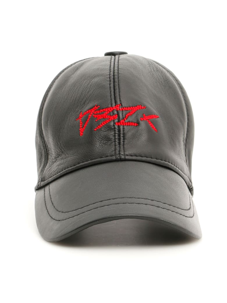 032c Leather Baseball Cap - BLACK (Black)