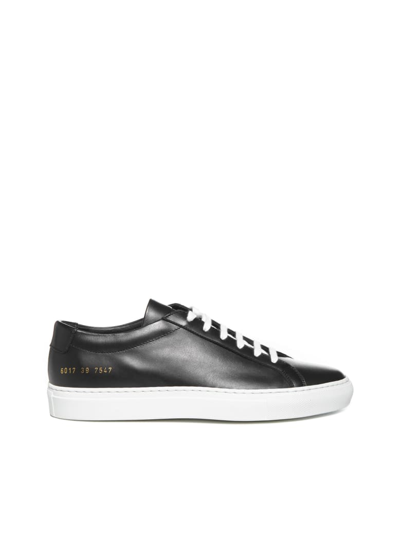 Common Projects Achilles Low White Sole Sneakers - Nero