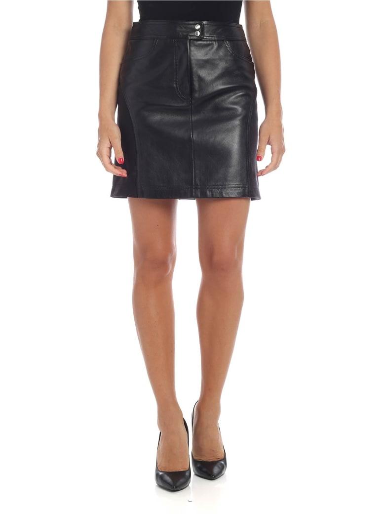 Alberta Ferretti - Mini-skirt In Black Leather - Black