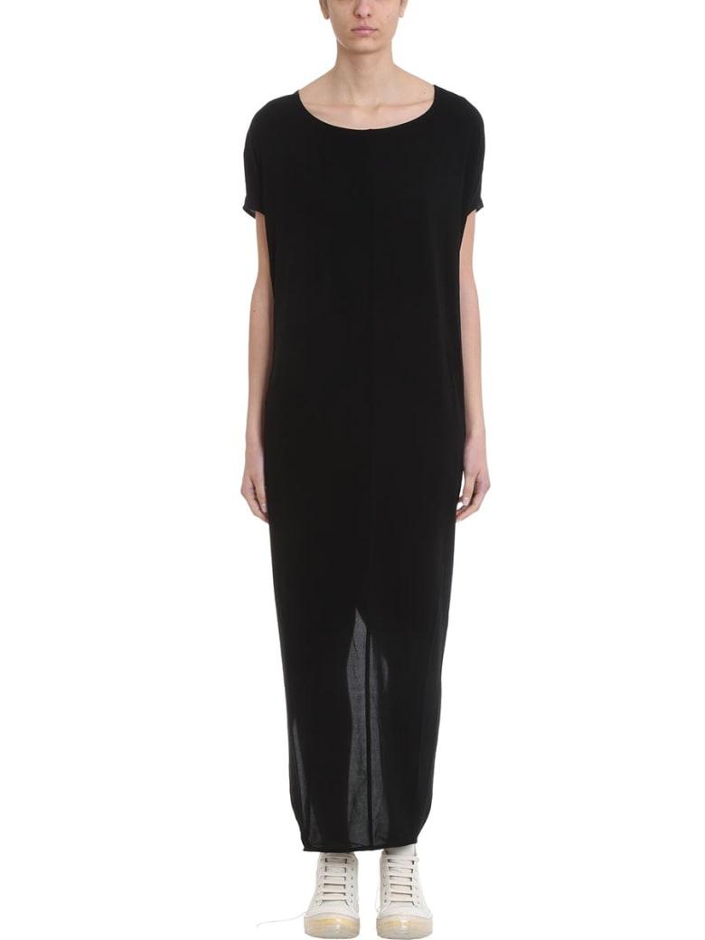 Rick Owens Lilies Gown Black Jersey Dress - powder