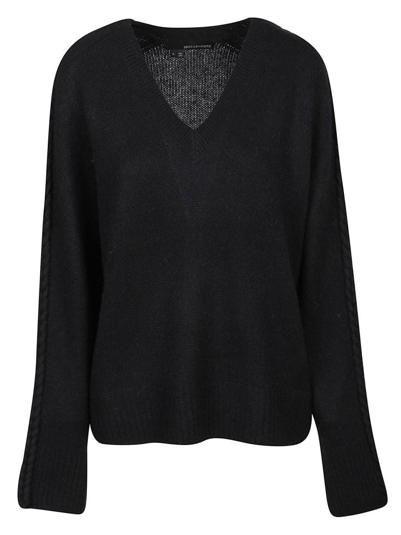 360 Sweater Maglia Scollo V Candice - Black