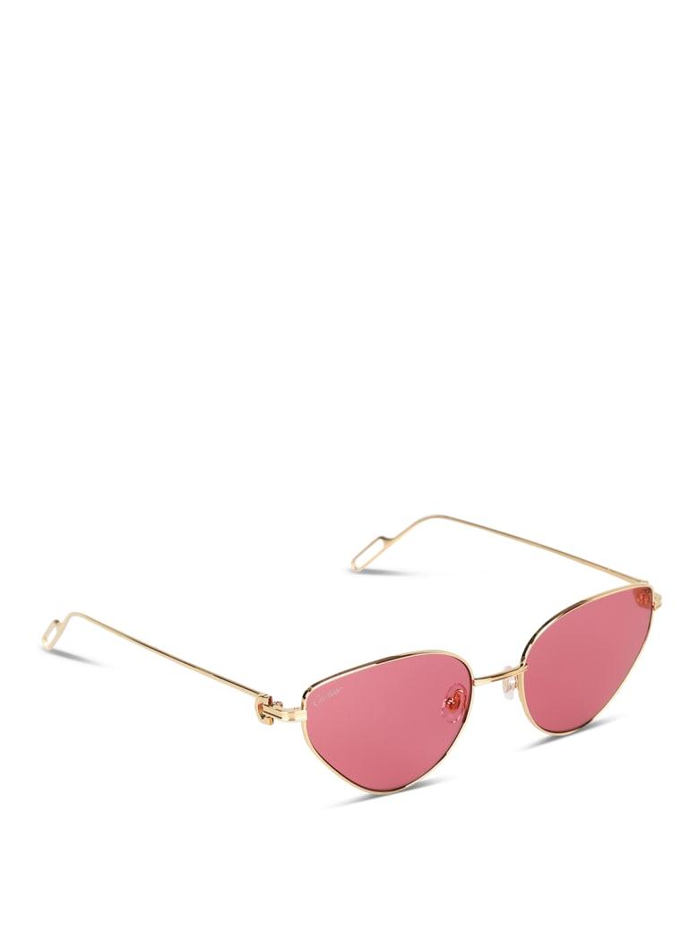 Cartier Eyewear CT0155S Sunglasses - -gold-gold-red
