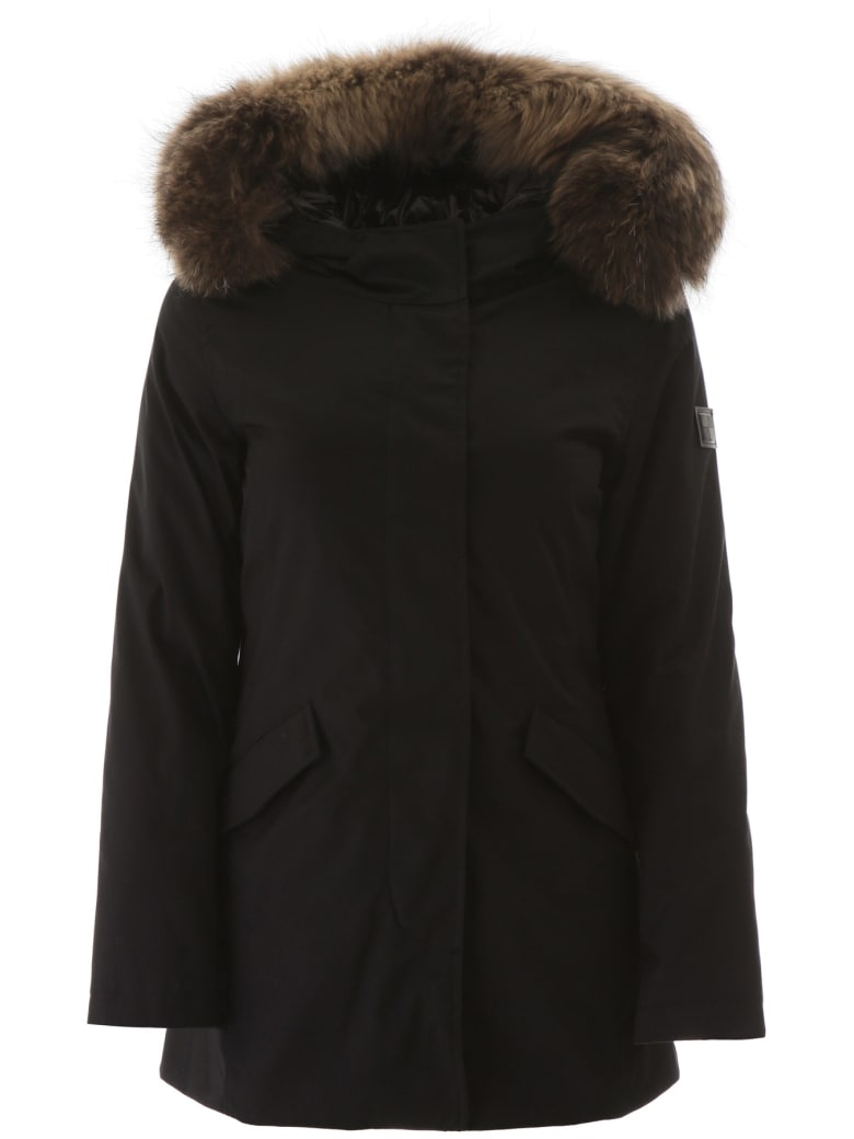 Woolrich Artic Parka With Murmasky Fur - BLACK (Black)
