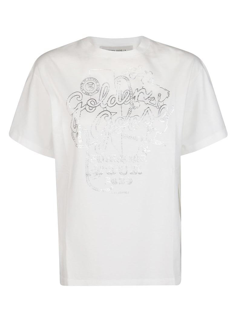 Golden Goose White Cotton T-shirt - White