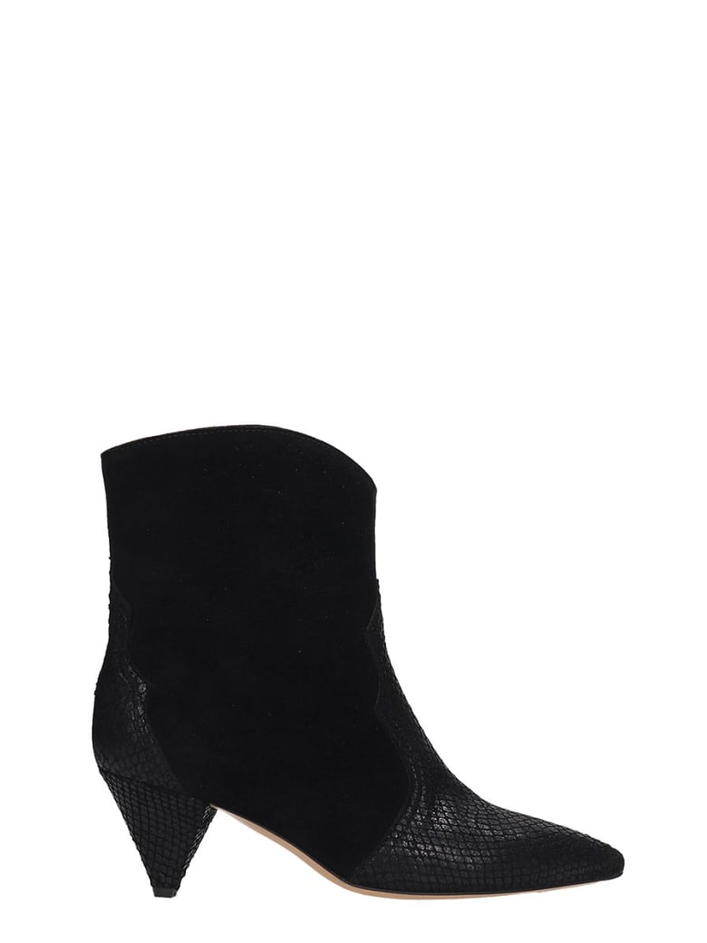 The Seller High Heels Ankle Boots In Black Suede - black