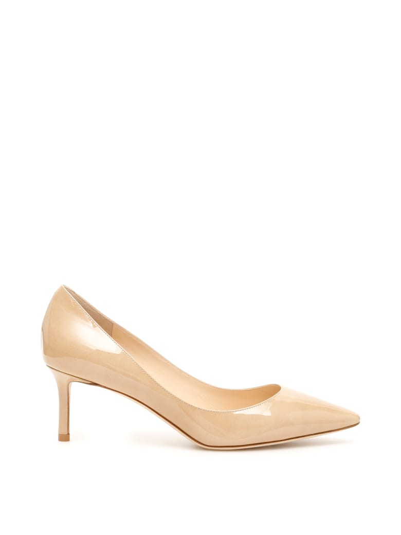 buy sale huge selection of official supplier Jimmy Choo Jimmy Choo Patent Romy 60 Pumps - NUDE - 10978512 | italist