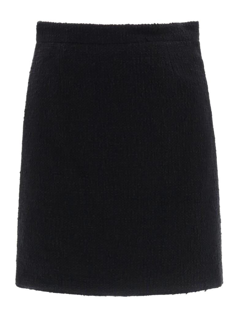 Patou Tweed Mini Skirt - BLACK (Black)