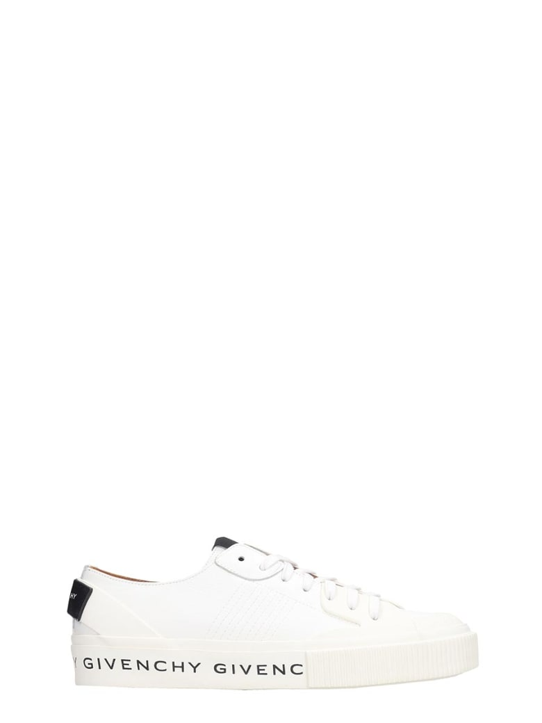 Givenchy Tennis Light Sneakers In White Leather - white
