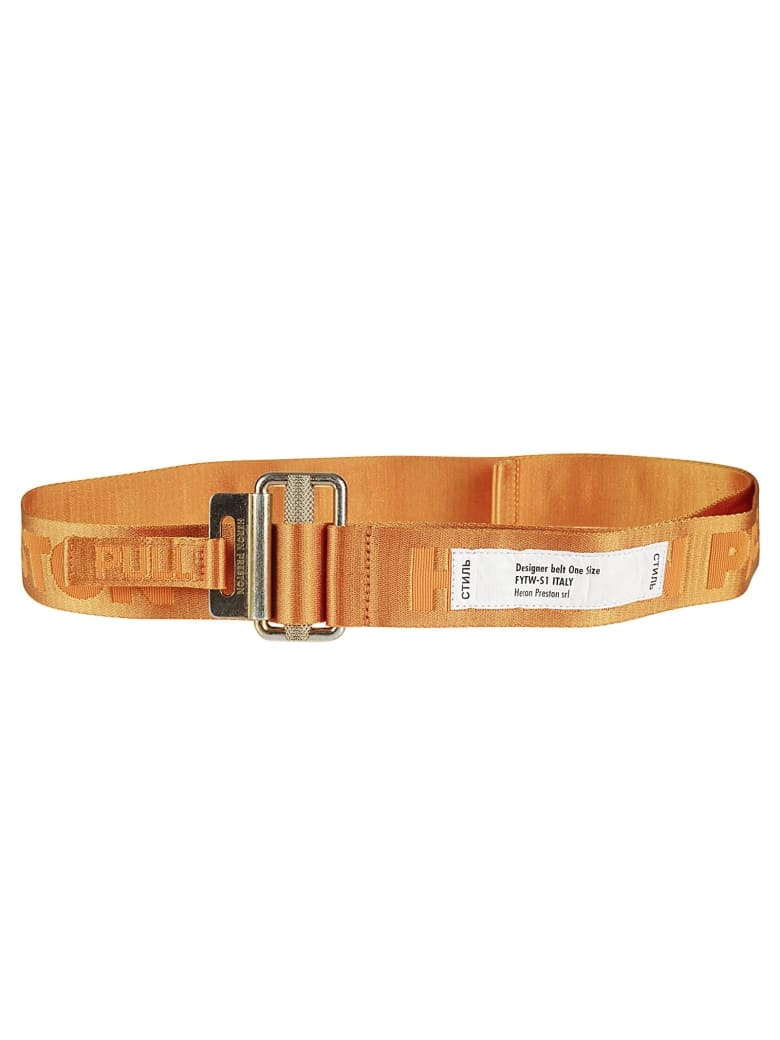 HERON PRESTON Tape Belt - Orange/Gold