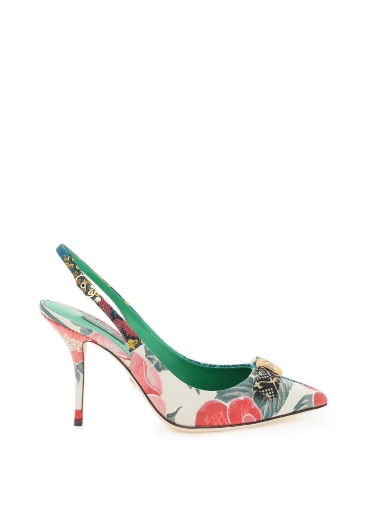 Dolce & Gabbana Cardinale Slingback Pumps 16 Patch - Multicolore