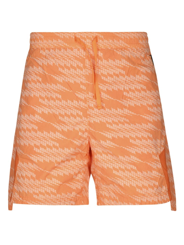 Stone Island Shadow Project Printed Shorts - Salmone