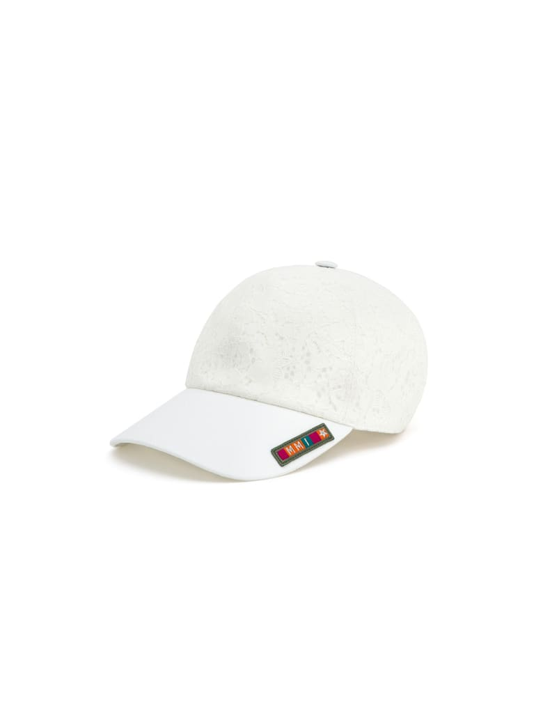 Mr & Mrs Italy Ss20 Lace Cap For Woman - WHITE/WHITE
