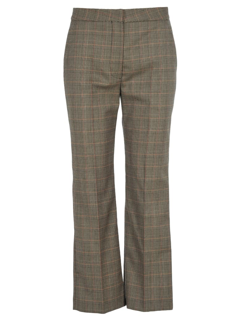 Stella McCartney Checked Flared Trousers - BLACK CHECK