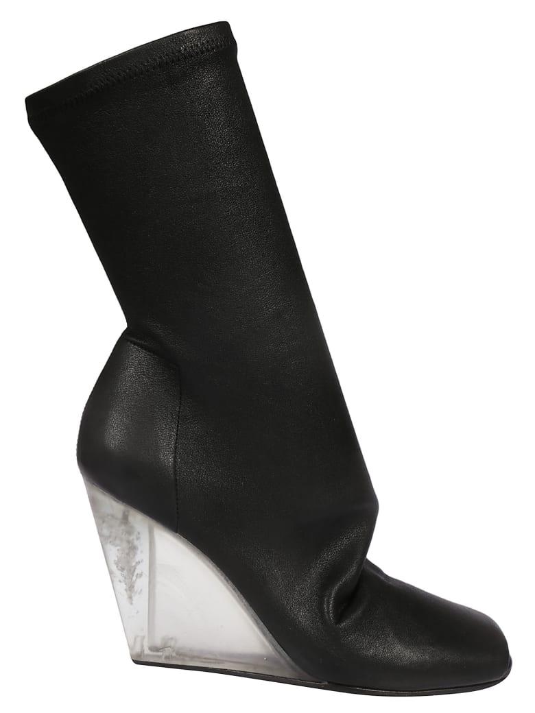 Rick Owens Open Toe Boots - black