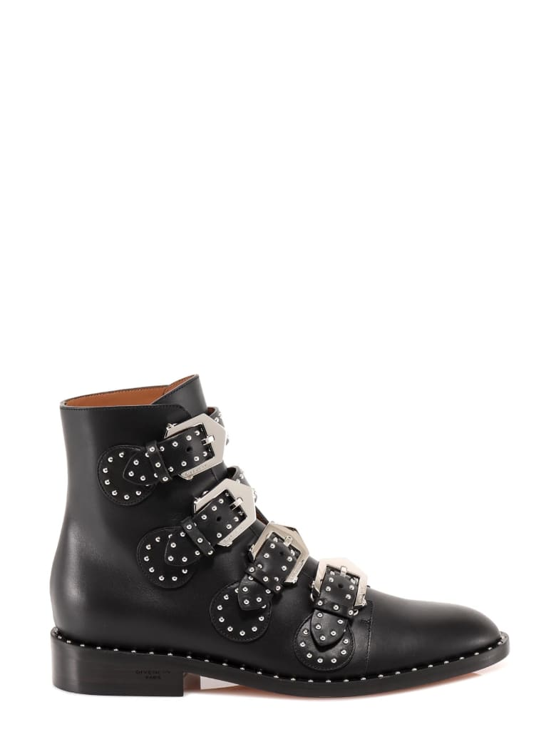 Givenchy Multi-strap Boots In Leather With Studs - 001