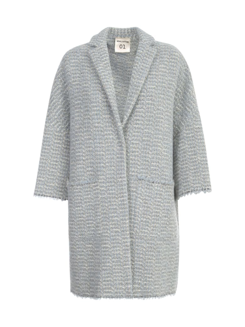 SEMICOUTURE Sigmund Oversized Coat - Bainco Azzurro
