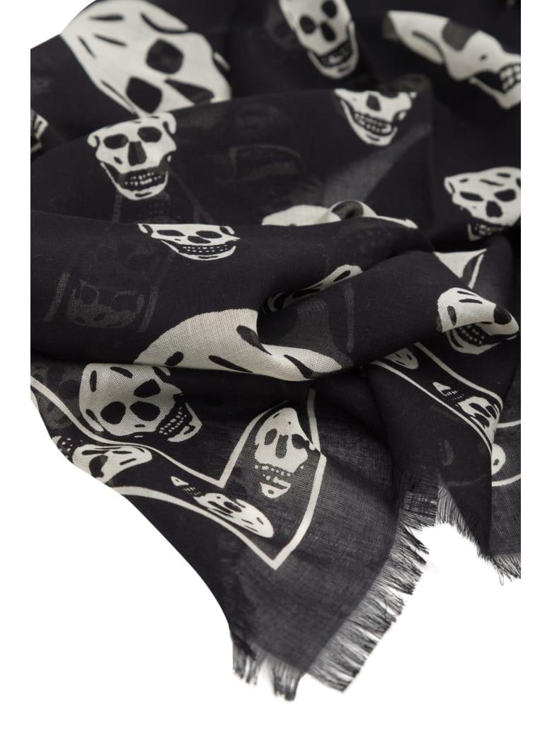 Alexander McQueen Sl Skull Foulard - Nero
