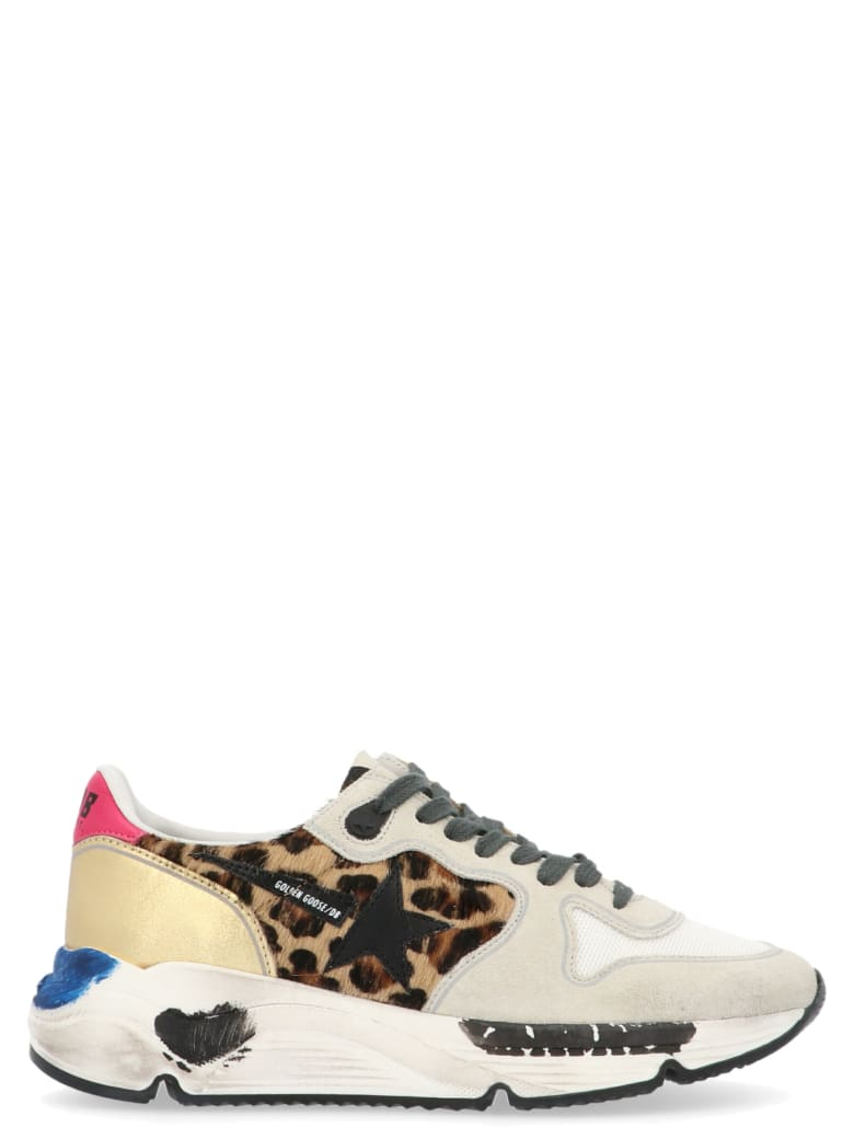 Golden Goose 'running Sole' Shoes - Multicolor