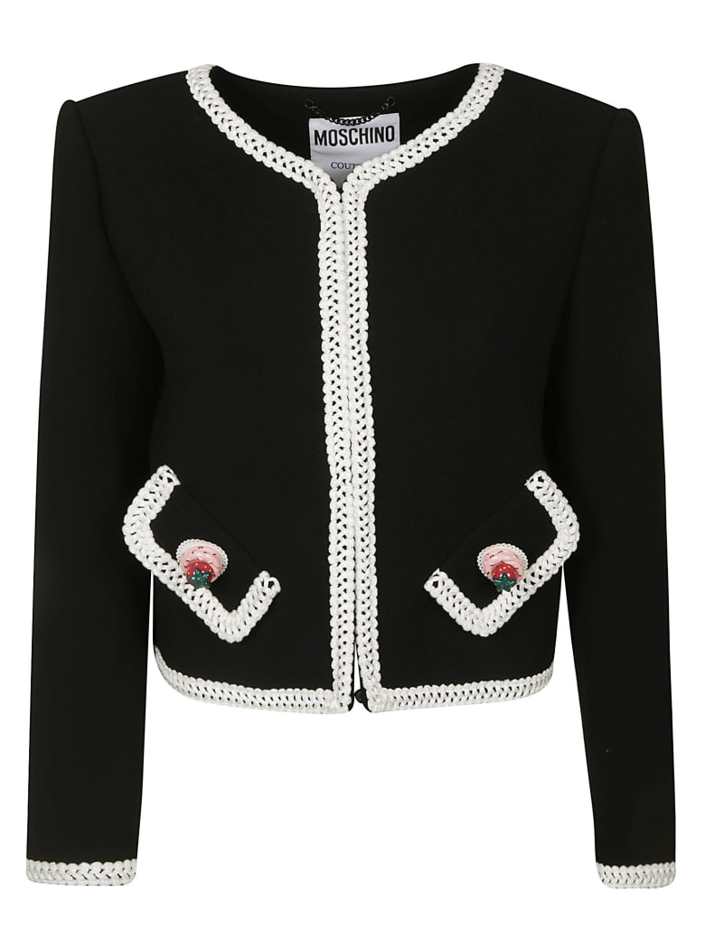 Moschino Side Flap Pocket Detailed Jacket - Black