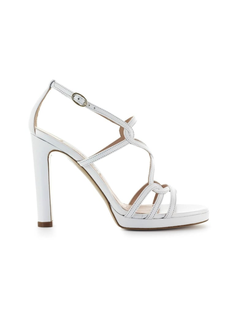 Roberto Festa Clinique White Nappa Leather Sandal - Bianco (White)
