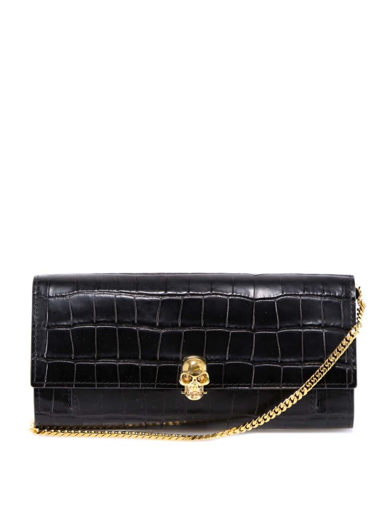 Alexander McQueen Continental Skull Wallet Wallet Bag - Black