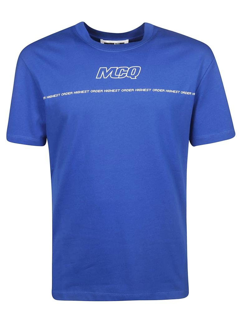 McQ Alexander McQueen Logo Print T-shirt - blue