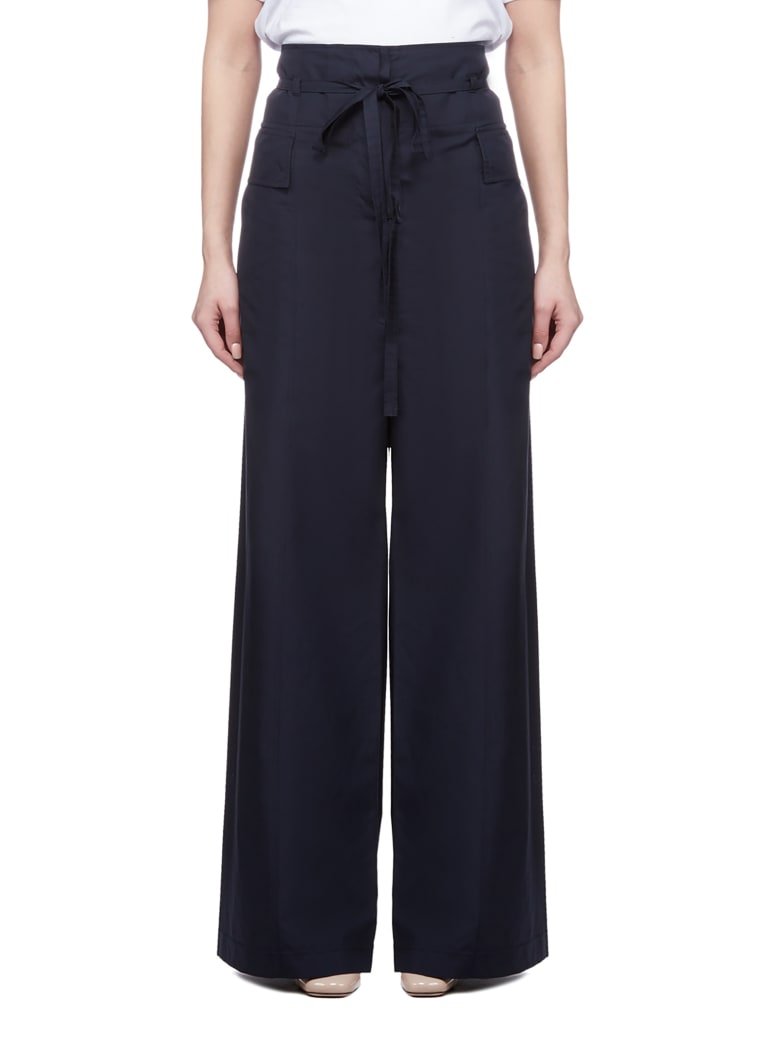 SportMax Wide Leg Trousers - Blu scuro